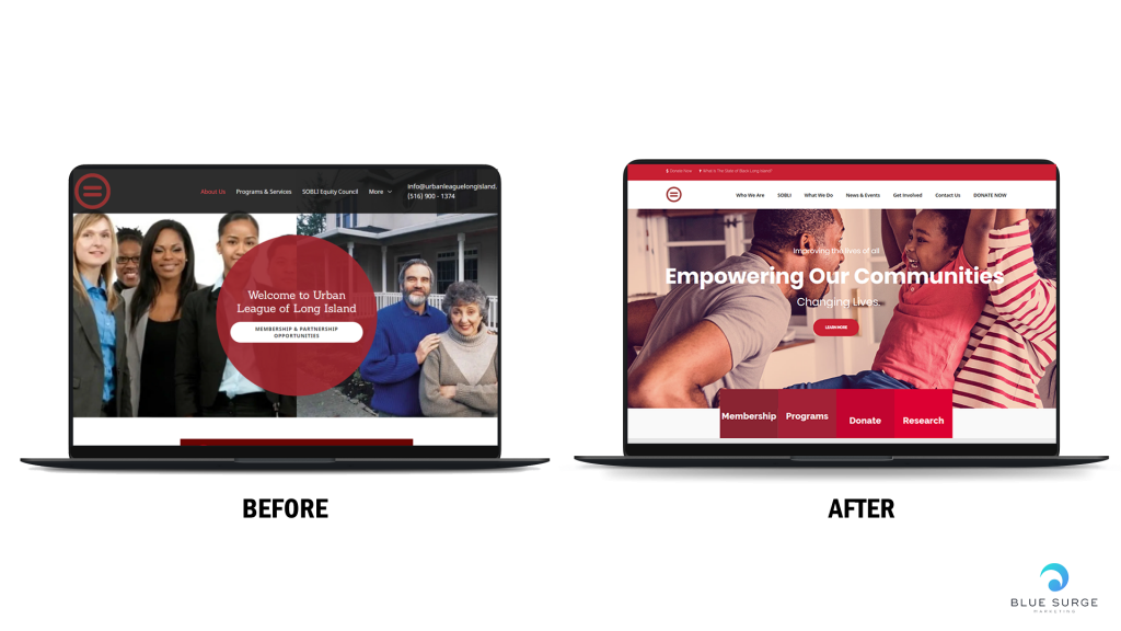 how blue surge marketing agency fixed the urban league of long island website