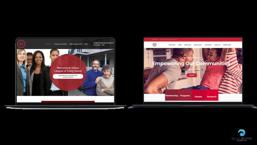how blue surge marketing agency fixed the urban league of long island website
